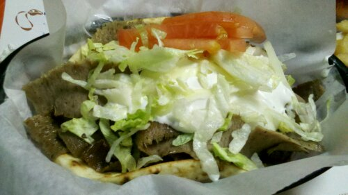 Gyro from Mike n Tony's Downtown