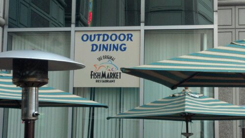 The Original Fish Market offers Outdoor Dining off the back patio