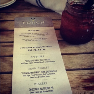 Blogger Dinner at Porch at Schneley